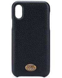 Gucci - Coque d'iPhone X à plaque logo - Lyst