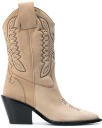 Zadig & Voltaire Western-style High-ankle Boots - Multicolour
