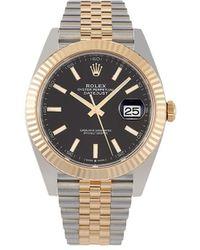 Rolex Наручные Часы Oyster Perpetual Datejust 41 Мм Pre-owned - Черный
