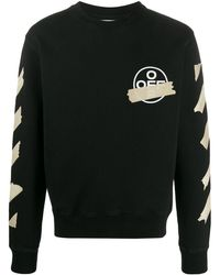 Off-White c/o Virgil Abloh Sweater Met Ronde Hals - Zwart