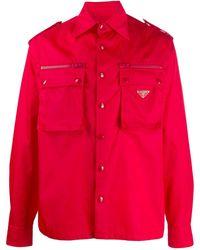 Prada - Boxy Military Shirt - Lyst