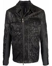 Transit Куртка С Жатым Эффектом - Серый