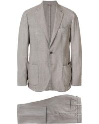 Dell'Oglio リネン ツーピース スーツ - グレー