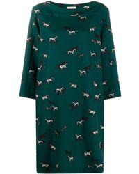 Altea Horse-print Midi Dress - Green
