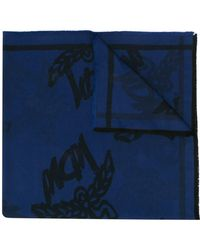 MCM ロゴ スカーフ - ブルー
