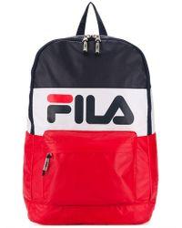 9c7e3c3f22 Fila Logo Buckled Backpack in Black - Lyst