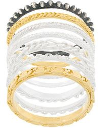 Wouters & Hendrix - Textured Stacked Ring - Lyst
