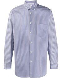 Comme des Garçons Striped long-sleeve shirt - Blu