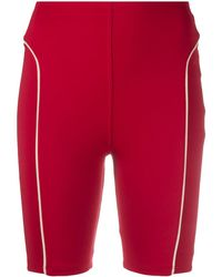 Esteban Cortazar High-waist Biker Shorts - Red