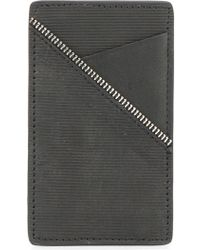 South Lane Zip Trim Cardholder - Black