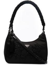 Prada Bolso shopper con detalles - Negro