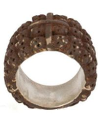 Tobias Wistisen 'rusted Multiple Skull' Ring - Grey