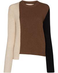 Marni パッチワーク セーター - ブラウン