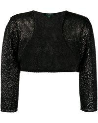 Lauren by Ralph Lauren Sequin-embellished Bolero Jacket - Black