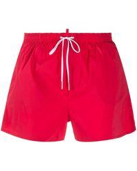 DSquared² Плавки-шорты Icon С Кулиской - Красный