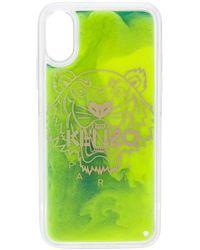 KENZO Coque d'iPhone X/XS Tiger - Vert