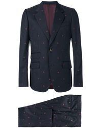 Gucci Heritage Bees ツーピーススーツ - ブルー