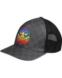 9dac377d2 Gucci Gg Supreme Angry Cat Baseball Cap in Black for Men - Lyst
