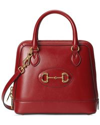 Gucci 1955 Horsebit Tote Bag - Red