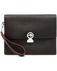 Stefano Ricci Logo-plaque Clutch Bag - Black