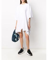 MM6 by Maison Martin Margiela Asymmetric Hem T-shirt Dress - ホワイト