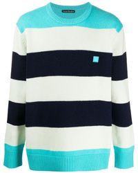 Acne Studios マルチカラー オーバーサイズ ストライプ セーター - ブルー