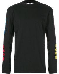 MSGM - Logo Sleeve Sweatshirt - Lyst