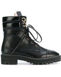 Stuart Weitzman - Lace Up Boots - Lyst