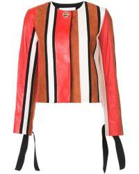 10 Crosby Derek Lam - Collarless Jacket With Tie Sleeves - Lyst