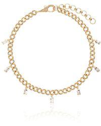 SHAY 18k Yellow Gold Baguette Diamond Anklet - Metallic