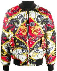 Versace Jeans Couture Bomberjack Met Barokprint - Rood