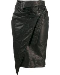 Étoile Isabel Marant Pencil Wrap Skirt - Black