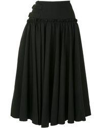 Yohji Yamamoto サイドバックル スカート - ブラック