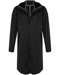 Moncler Пальто С Капюшоном И Логотипом - Черный