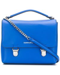 Calvin Klein - Foldover Top Shoulder Bag - Lyst
