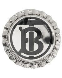 Burberry モノグラム ブローチ - メタリック