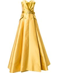 Alexis Mabille - Strapless Belted Gown - Lyst