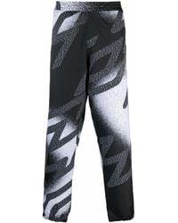 Aries X Umbro Reflective Logo-print Track Trousers - Black