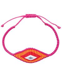 Diane Kordas Woven Evil Eye Bracelet - Red