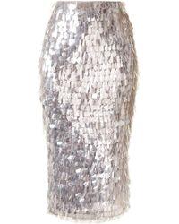 Rachel Gilbert Tayah スパンコール スカート - メタリック