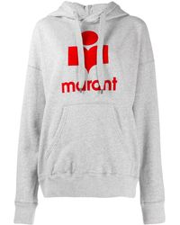 Étoile Isabel Marant Mansel Cotton Hoodie With Logo - Gray