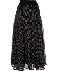 Tu Es Mon Tresor ポルカドット スカート - ブラック