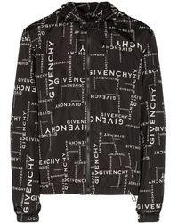 Givenchy Coupe-vent à motif monogrammé - Noir