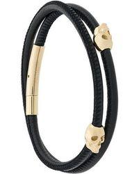 Northskull - Skull Wrap Bracelet - Lyst