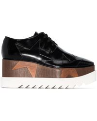 Stella McCartney Elyse Flatform Derby Shoes - Black