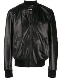 Dolce & Gabbana ロゴ ボンバージャケット - ブラック