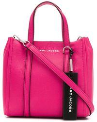 Marc Jacobs Draagtas Met Gegraveerd Logo - Roze