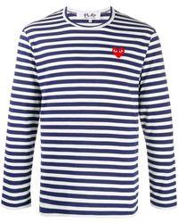 COMME DES GARÇONS PLAY Gestreept T-shirt - Blauw