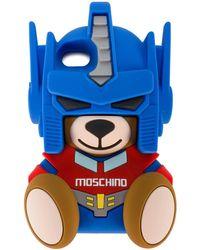 Moschino Transformer Teddy Iphone 7 カバー - ブルー