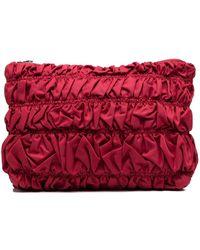 Molly Goddard Pochette à design froncé - Rouge